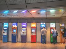 ATM in Thailand Hua lamphong MRT station stock photography