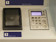 ATM to get money. Banking machine to perform financial transactions with customers Stock Photography