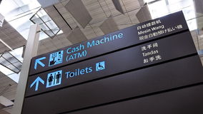 ATM and toilet sign Stock Photography