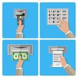 ATM użycia śmiertelnie pojęcie Zdjęcie Royalty Free