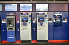 ATM of United Overseas Bank in Singapore Stock Photography