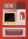 ATM. Vector design of Automatic teller machine commonly called as ATM Royalty Free Stock Images