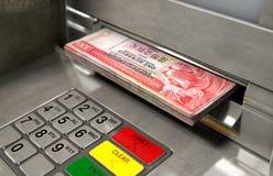 ATM-Voorgevelcontant geld Withdrawel royalty-vrije stock foto's