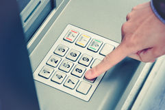 ATM-Vorwahlknopfauflage Lizenzfreies Stockfoto