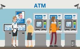 ATM w banku Obraz Royalty Free