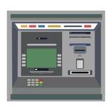 ATM zapłata ATM maszyna z ręką i kredytową kartą Zdjęcie Stock