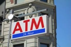 ATM-Zeichen Lizenzfreie Stockfotos