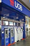 ATM Zlany Zamorski bank w Singapur Zdjęcia Stock
