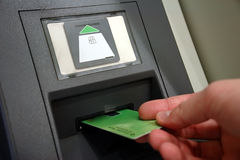 ATM-Zugriff Stockfoto