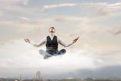 Atmen Sie tief ein und entspannen Sie sich Lizenzfreie Stockfotos