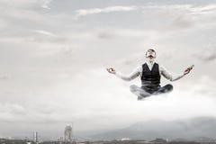 Atmen Sie tief ein und entspannen Sie sich Lizenzfreies Stockbild