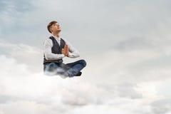 Atmen Sie tief ein und entspannen Sie sich Lizenzfreie Stockbilder