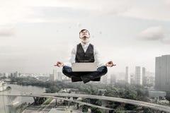 Atmen Sie tief ein und entspannen Sie sich Lizenzfreies Stockfoto