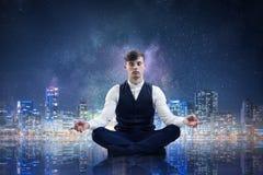 Atmen Sie tief ein und entspannen Sie sich Gemischte Medien Lizenzfreies Stockfoto