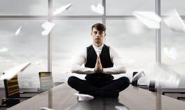 Atmen Sie tief ein und entspannen Sie sich Gemischte Medien Lizenzfreie Stockfotografie