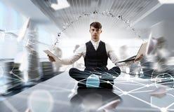 Atmen Sie tief ein und entspannen Sie sich Gemischte Medien Lizenzfreies Stockbild