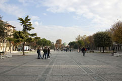 Atmeydani Street. (Hippodrome of Constantinople) of Istanbul at sunny morning Stock Images