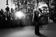 Atmosfär under den 68th årliga Cannes filmfestivalen Royaltyfri Bild
