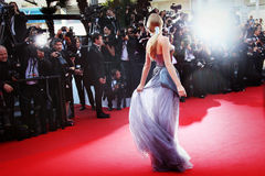 Atmosfär under den 68th årliga Cannes filmfestivalen Arkivbilder