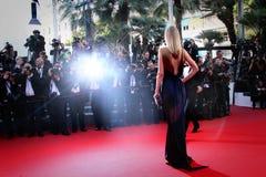 Atmosfär under den 68th årliga Cannes filmfestivalen Royaltyfri Fotografi