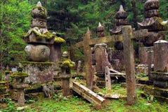 Atmosfärisk kyrkogård Royaltyfri Bild