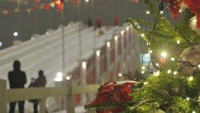 atmosfera świąteczna E Nie w ostrości E zbiory wideo