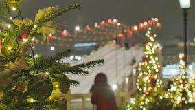 atmosfera świąteczna E Nie w ostrości r zbiory wideo