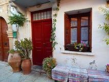 Atmosfera accogliente di vecchia città di Rethymno fotografia stock