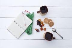 Atmosfera acolhedor, café da manhã ou simplesmente um negócio do tea party Imagem de Stock