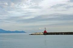 A atmosfera da luz no porto de Formia Itália durante a tarde Fotografia de Stock Royalty Free