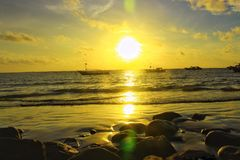 a atmosfera do por do sol Fotografia de Stock