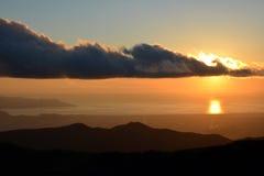 Atmosfera em torno do lago Ashi, Japão foto de stock
