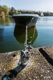 Atmosfera Envi de Sunny Lake Landscape Beautiful Idyllic do barco da doca imagem de stock