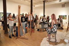 Atmosfera geral na apresentação 2017 de Whit Spring na academia de NY da arte Fotos de Stock