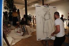 Atmosfera geral na apresentação 2017 de Whit Spring na academia de NY da arte Foto de Stock