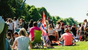 Atmosfera reale di nozze nelle coppie aspettanti di Windsor reali Fotografie Stock