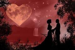 Atmosfera romantica del biglietto di S. Valentino Illustrazione di Stock