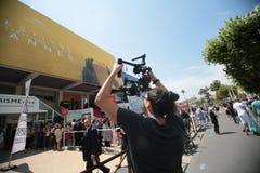Atmosfera sopra durante il sessantanovesimo festival di Cannes Immagini Stock Libere da Diritti