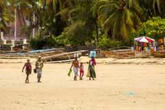 Atmosferakust van het toeristeneiland, Madagascar Stock Foto