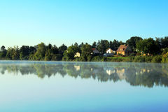 Atmosfere on the pond Royalty Free Stock Photo