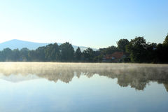 Atmosfere on the pond Royalty Free Stock Images