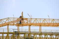Atmosferisch vervoer de industrie van de suikermolen Stock Foto's