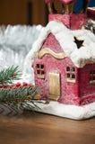 Atmosferische Kerstmisdecoratie Stock Foto