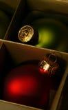 Atmosferische Kerstmisornamenten stock fotografie