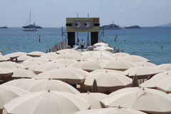 Atmosfery Cannes Ekranowy festiwal Zdjęcia Stock