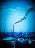 atmosfery nafciana zanieczyszczania rafineria Fotografia Stock