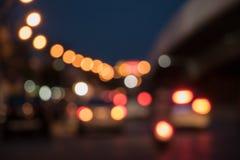 Atmosfery skrzyżowanie w nocy Obraz Royalty Free
