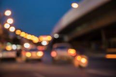 Atmosfery skrzyżowanie w nocy Fotografia Royalty Free