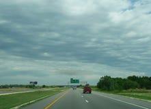 Atmosferyczna brąz chmura, zmrok chmura nad wiejskim Ameryka Zdjęcia Stock