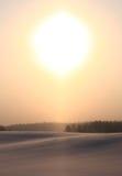 Atmosferycznego zjawiska halo. Zdjęcie Royalty Free